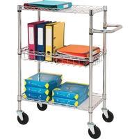Lorell 3 Tier Rolling Carts LLR84859