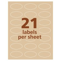 Avery® Print-to-the-Edge Oval Labels, 22855, 1 1/8