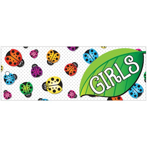 (12 Ea) Hall Pass Ladybug Girls Laminated ASH10728BN
