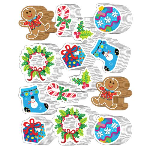 (10 Pk) Winter Holiday Stickers  CTP4129BN