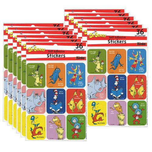 (12 Ea) Stickers Dr Seuss Favorite Books EU-650022BN