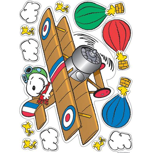 (12 Ea) Peanuts Flying Ace Window Clings EU-836047BN