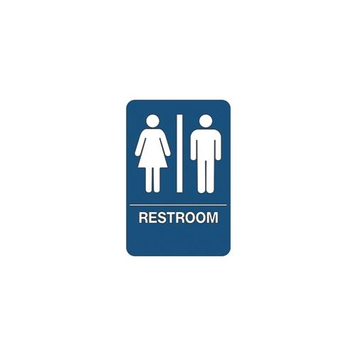"""Men/Women Restroom"" ADA Compliant Plastic Sign, 1 Each SN105"