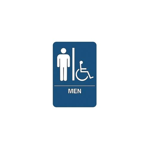 """Men/Accessible"" ADA Compliant Plastic Sign, 1 Each SN106"