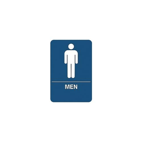 """Men Restroom"" ADA Compliant Plastic Sign, 1 Each SN102"