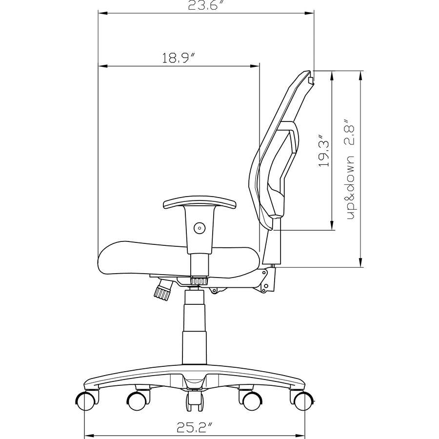 bulk lorell ergomesh series managerial mid back chair llr86201