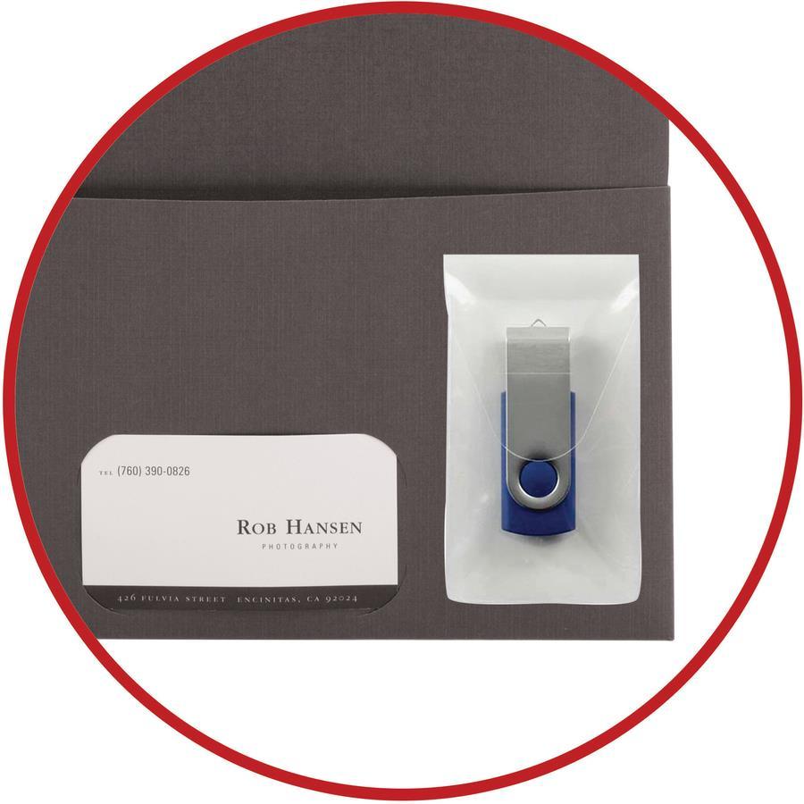 Smead Self Adhesive Poly Usb Flash Drive Pocket