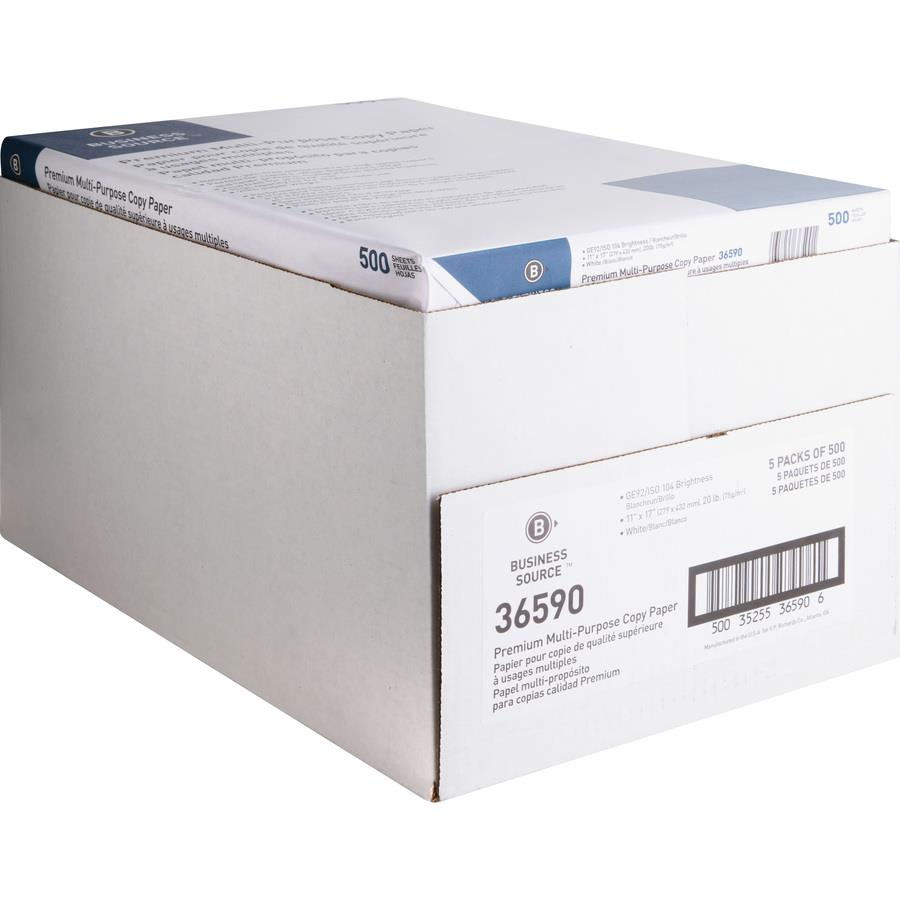 Business Source Premium Multipurpose Copy Paper Zerbee
