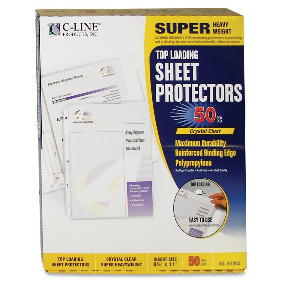 C Line Polypropylene Top Loading Sheet Protector Zerbee