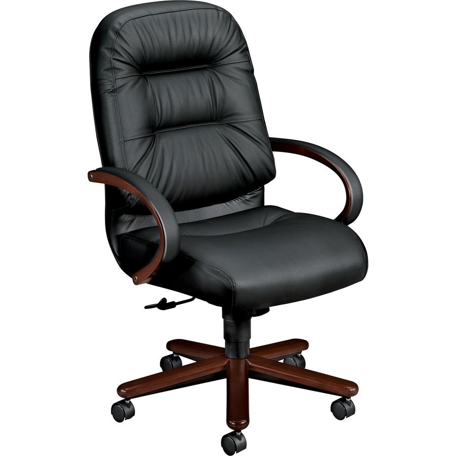 Hon Pillow Soft Executive Chair Leather Black Seat