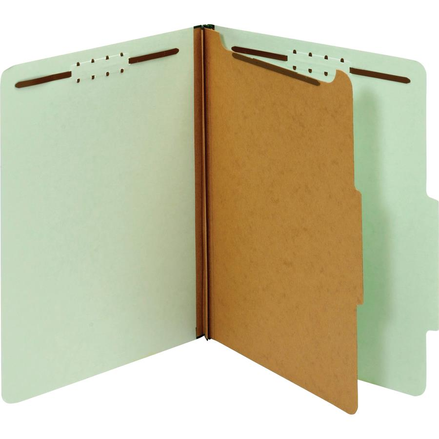 Pendaflex 1-Divider Pressboard Classification Folders - Zerbee