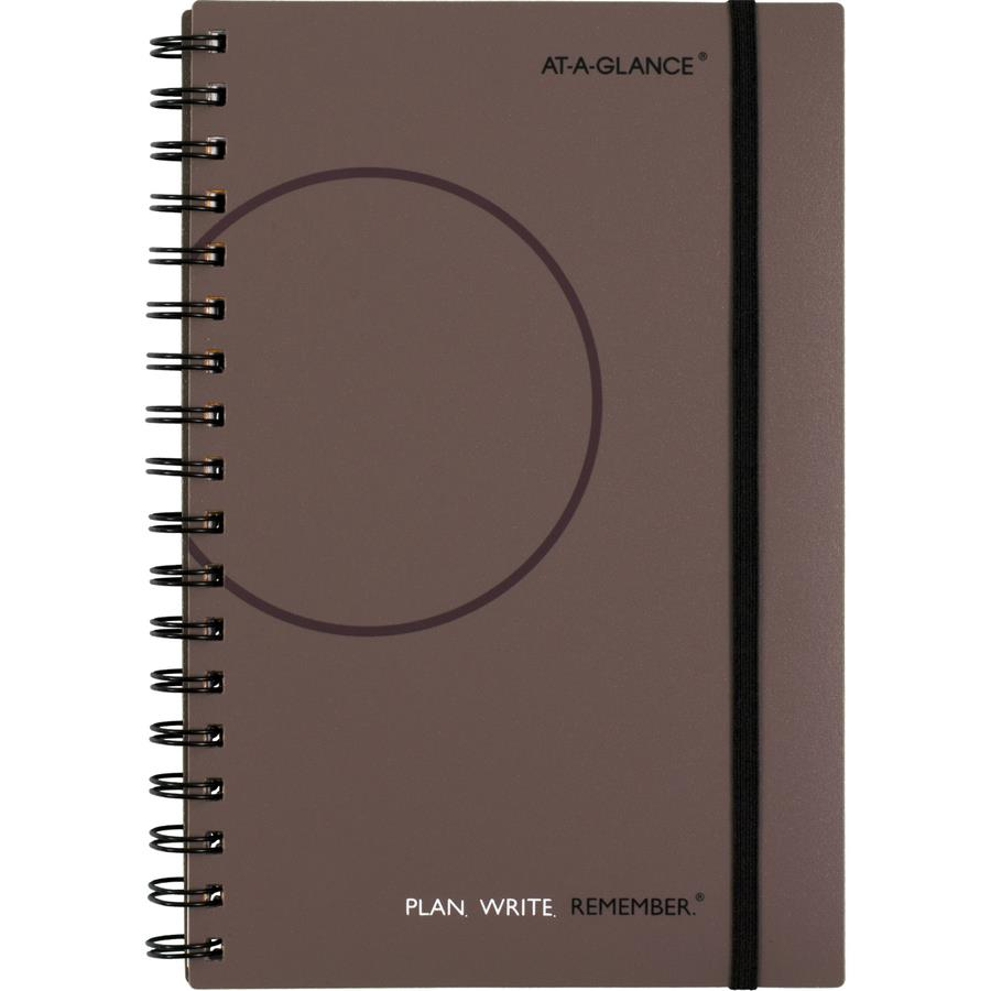 Monthly Calendar Notebook : At a glance planning notebook lined with monthly calendars