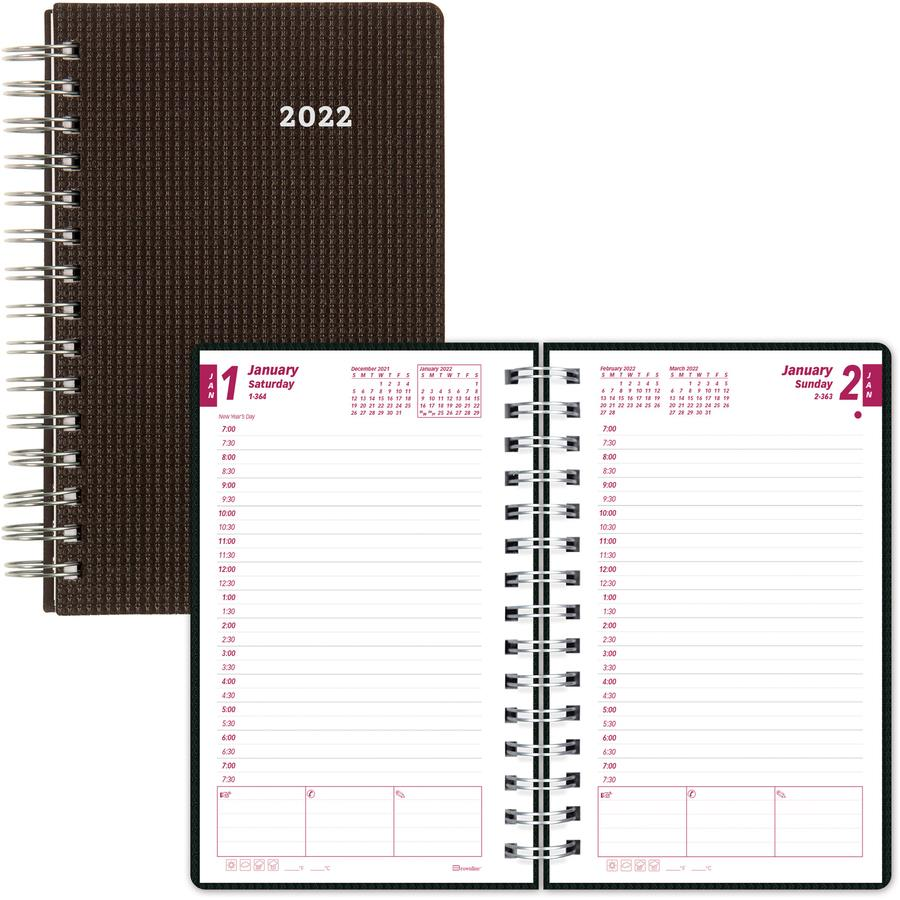 brownline duraflex daily appointment book    monthly planner