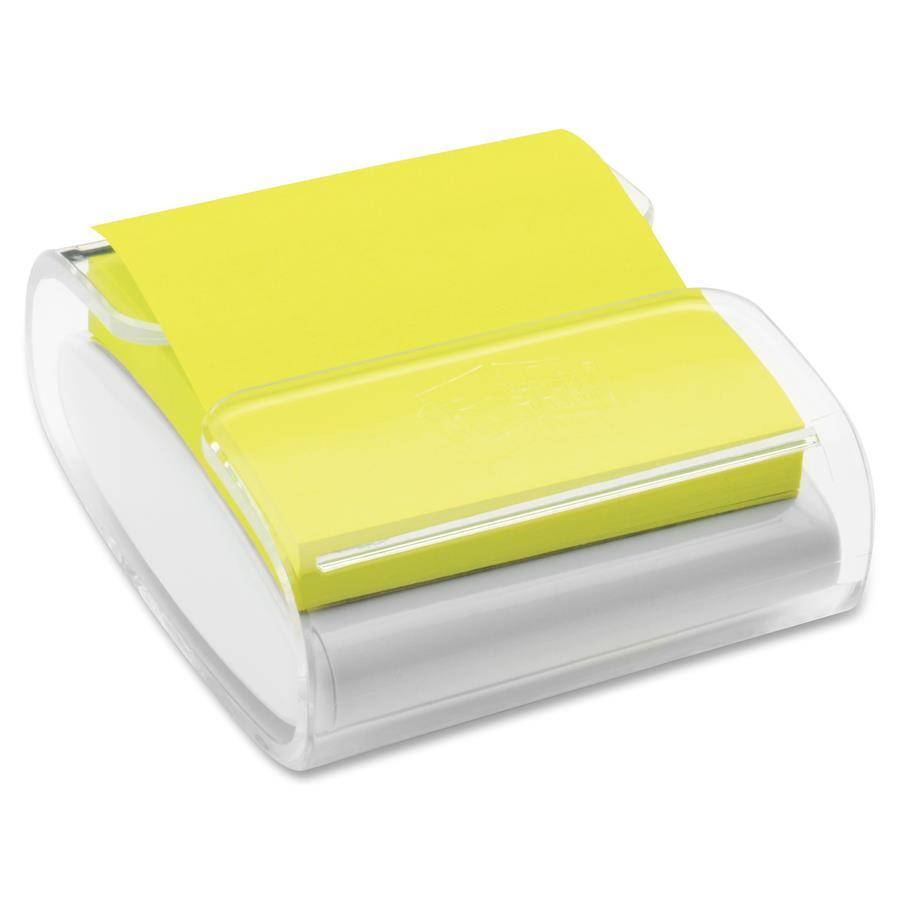 Post It 174 Pop Up Note Dispenser White Translucent Zerbee