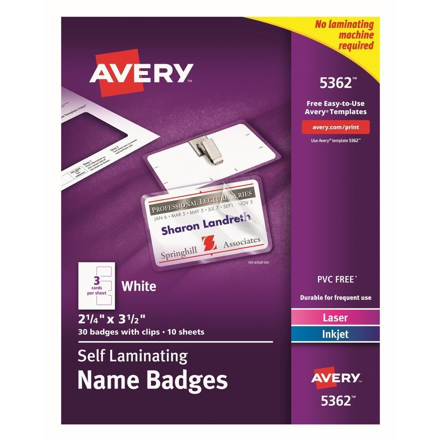 Avery 5362 Laser/Inkjet Badge Insert - Zerbee