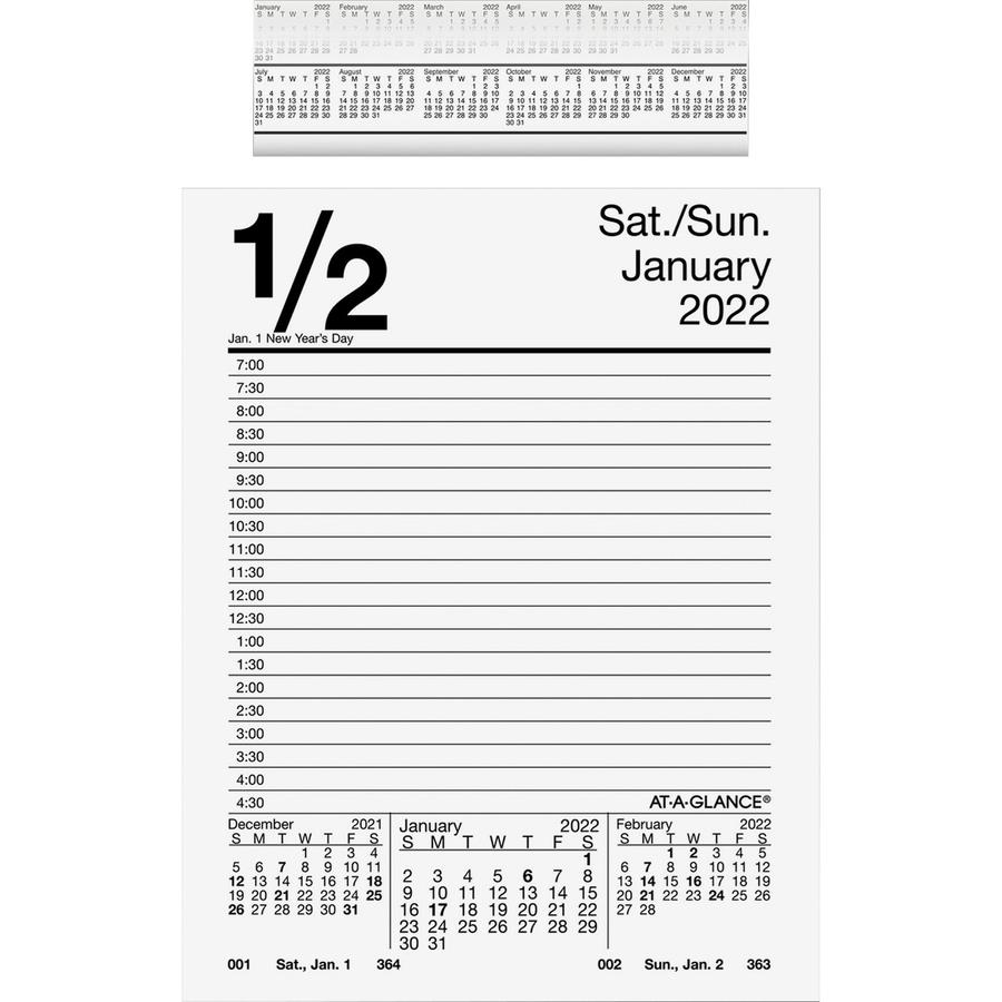At A Glance Daily Pad Style Desk Calendar Refill Zerbee