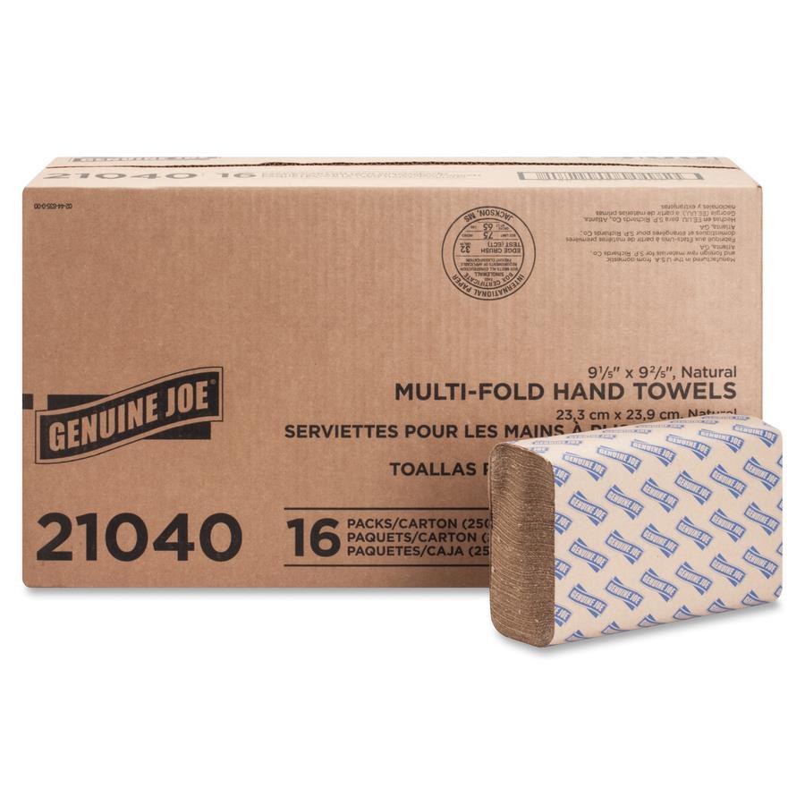 Natural Washcloths Wholesale: Wholesale Genuine Joe Multifold Natural Towels GJO21040 In