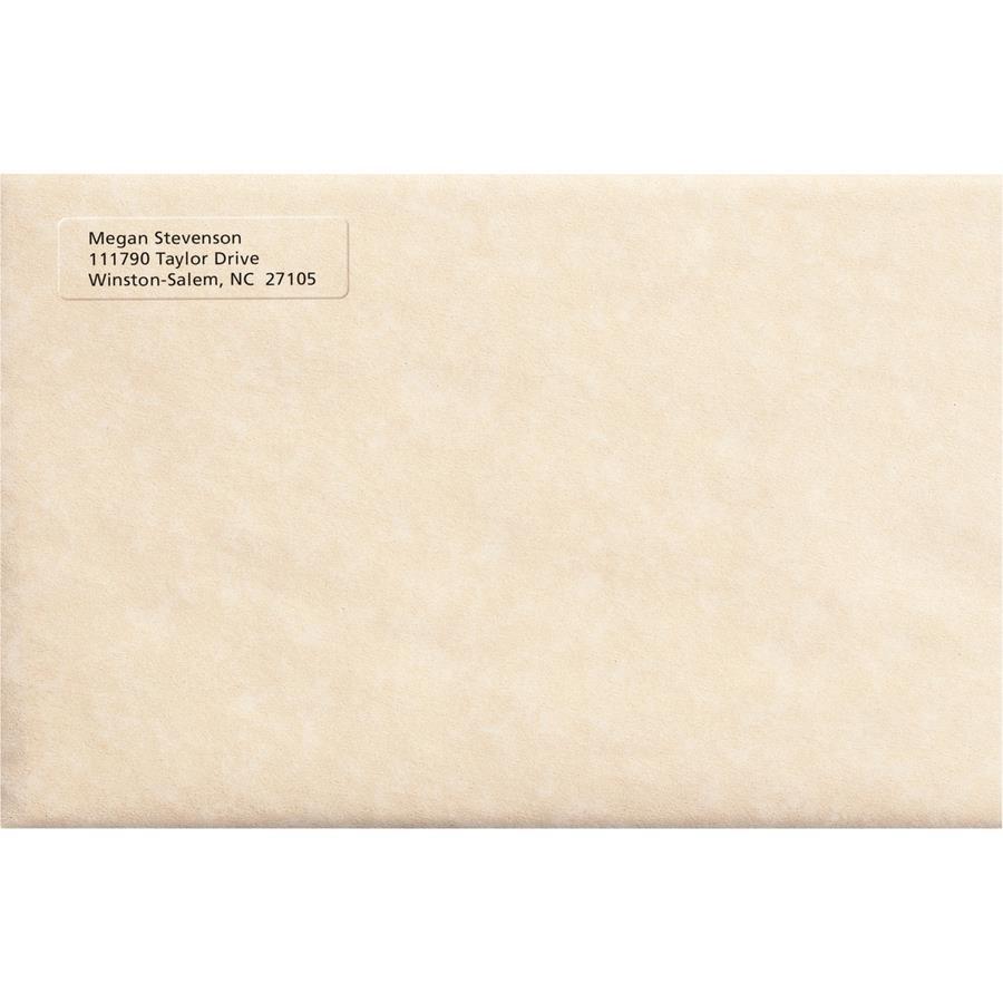 avery easy peel return address label