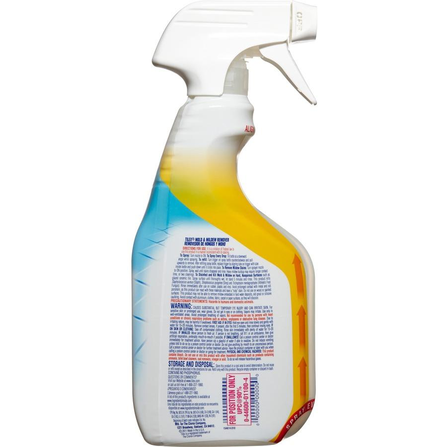 Tilex Mold And Mildew Remover With Bleach Ready To Use Spray   0.13 Gal (16  Fl Oz)   Bottle   12 / Carton   Clear
