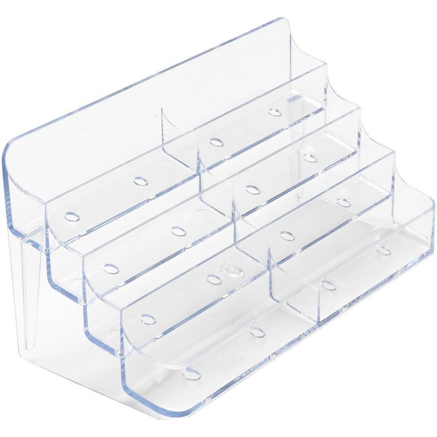 Deflecto desktop clear business card holder deflecto desktop clear business card holder acrylic 1 each clear colourmoves