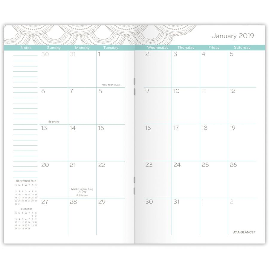 at a glance serene scallops 2 year pocket planner