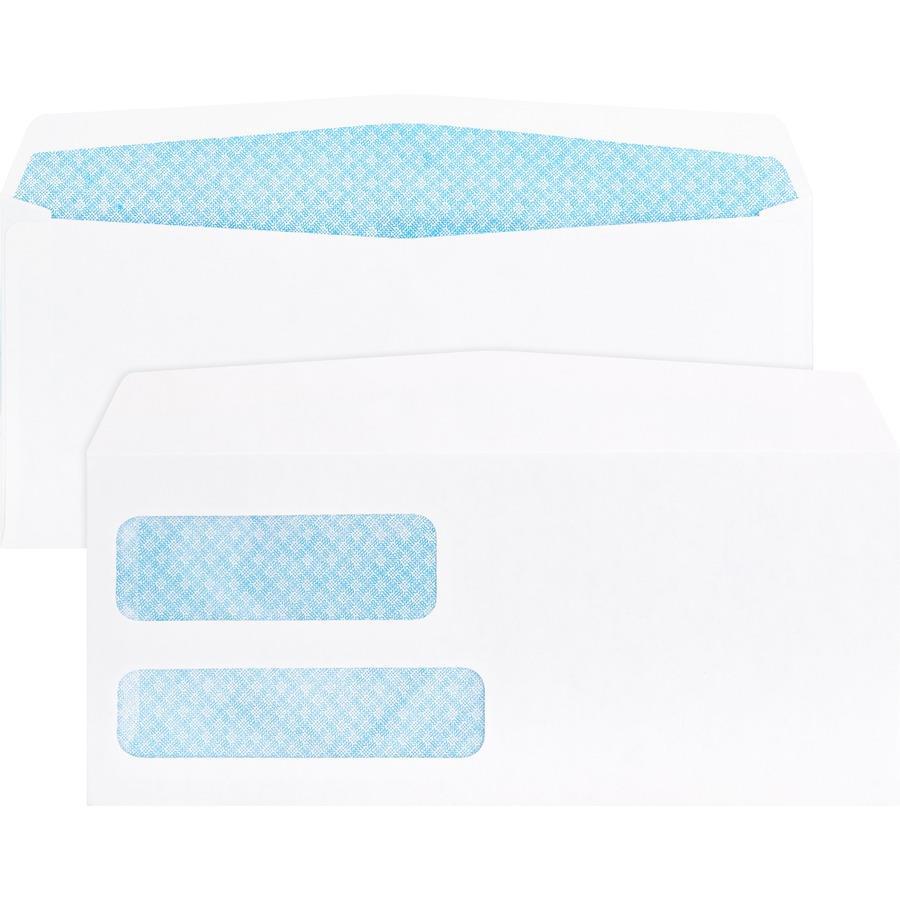 Business Source No Double Window Invoice Envelopes - 9 invoice envelopes