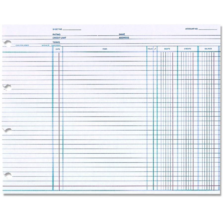 """Wilson Jones® Ledger Paper, Balance Ledger, 7 1/2"""" X 10 3"""