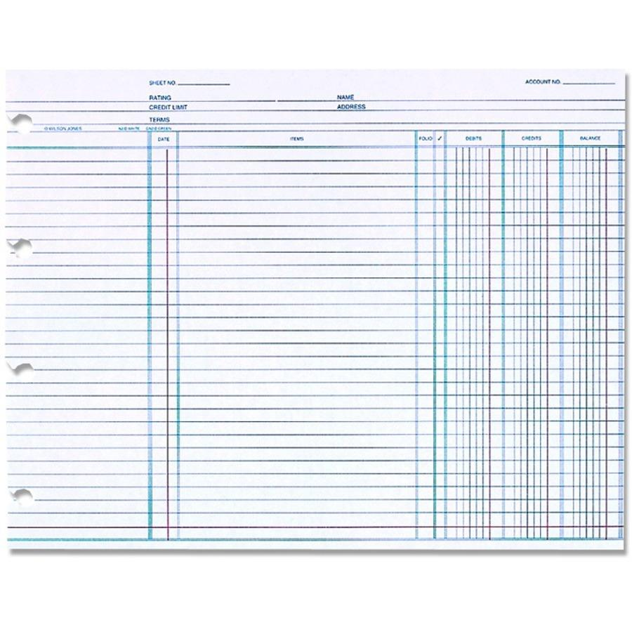 wilson jones u00ae ledger paper  balance ledger  7 1  2 u0026quot  x 10 3