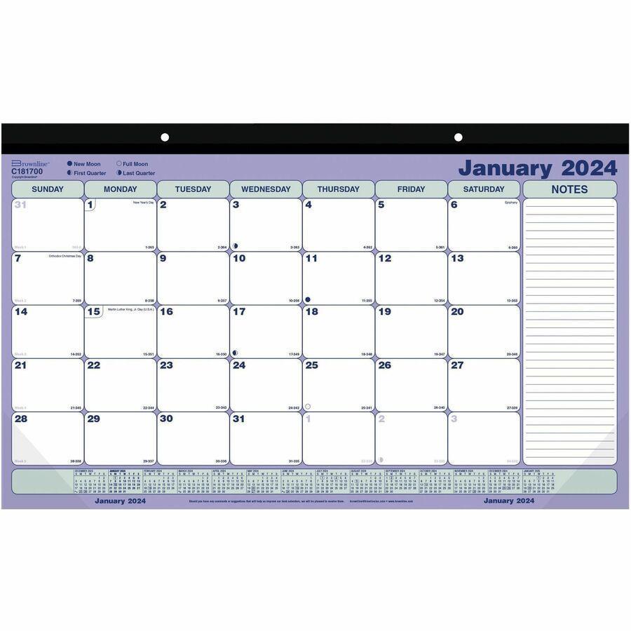 Brownline Monthly Desk Pad Wall Calendar