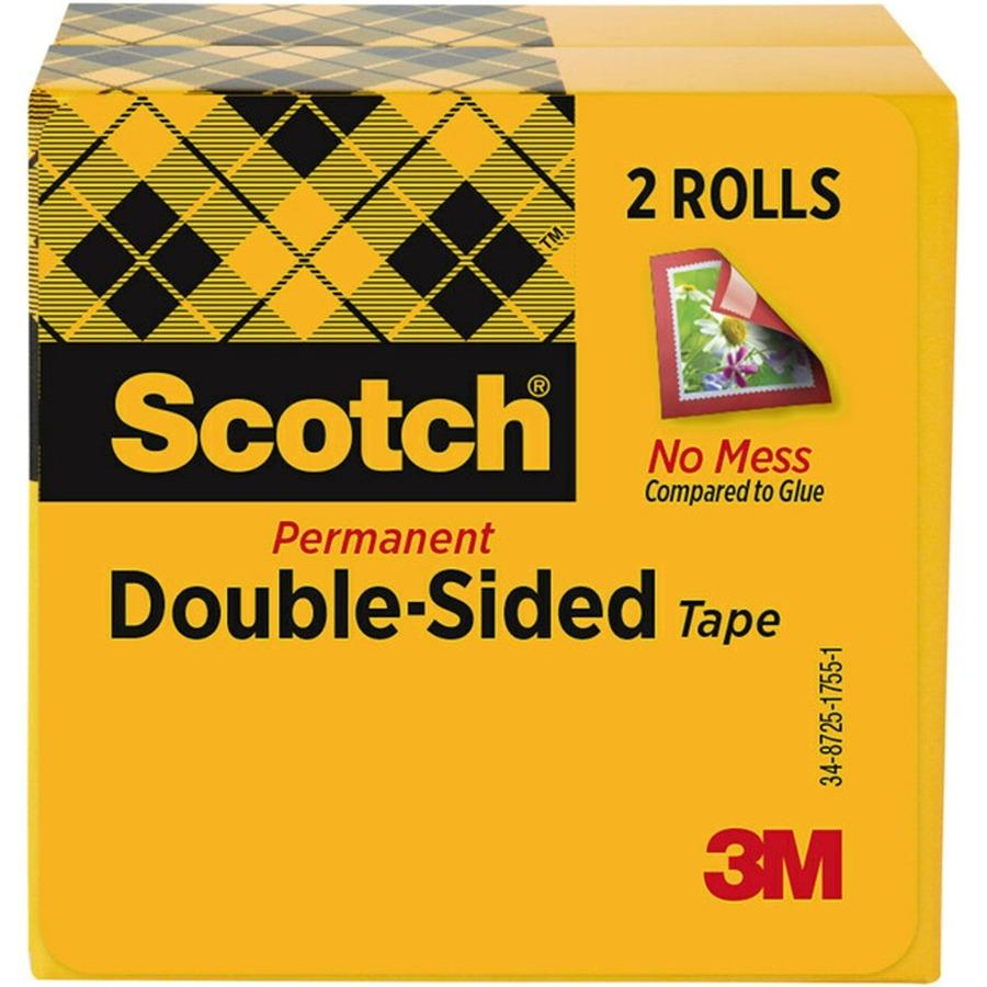 scotch permanent double sided tape 1 2 x 900 zerbee. Black Bedroom Furniture Sets. Home Design Ideas