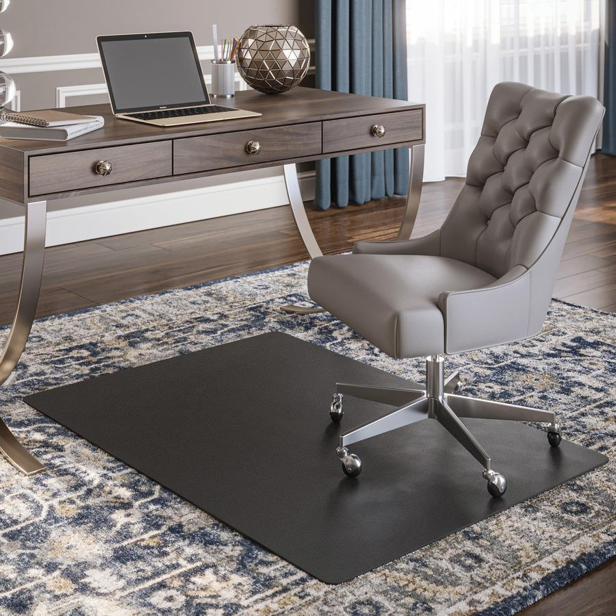 0aacbf4be15 Bulk deflecto Black Rectangular Smooth Edge Chairmats DEFCM11242BLK