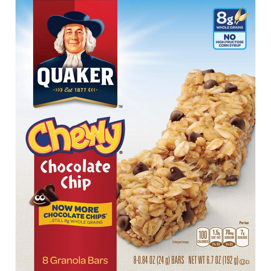 wholesale quaker oats chocolate chip chewy granola bars qkr31182