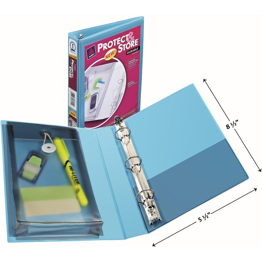 avery protect store 5 1 2 x 8 1 2 mini durable view binders with