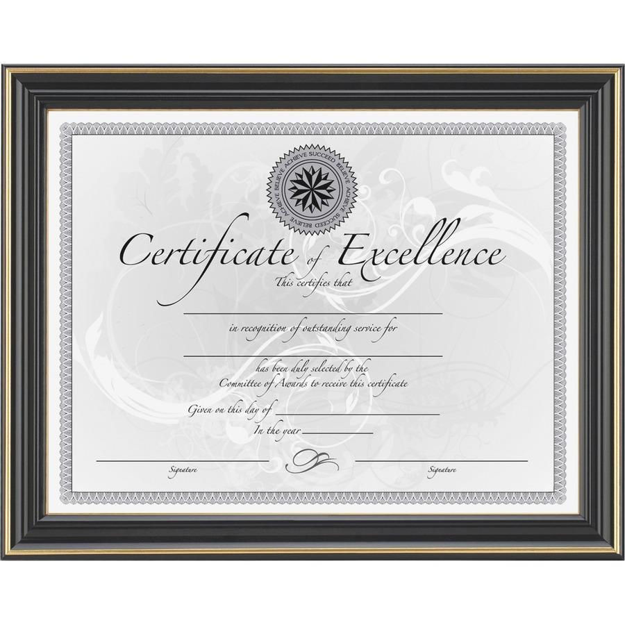 DAX Hi-Gloss Black Document Frame