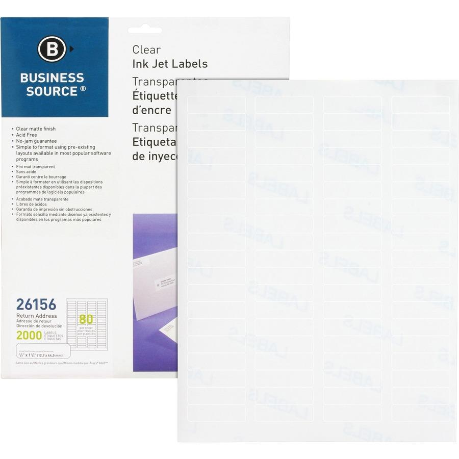 business source premium mailing label