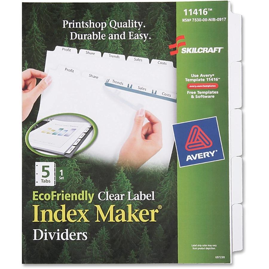 SKILCRAFT 5-tab Index Maker Divider