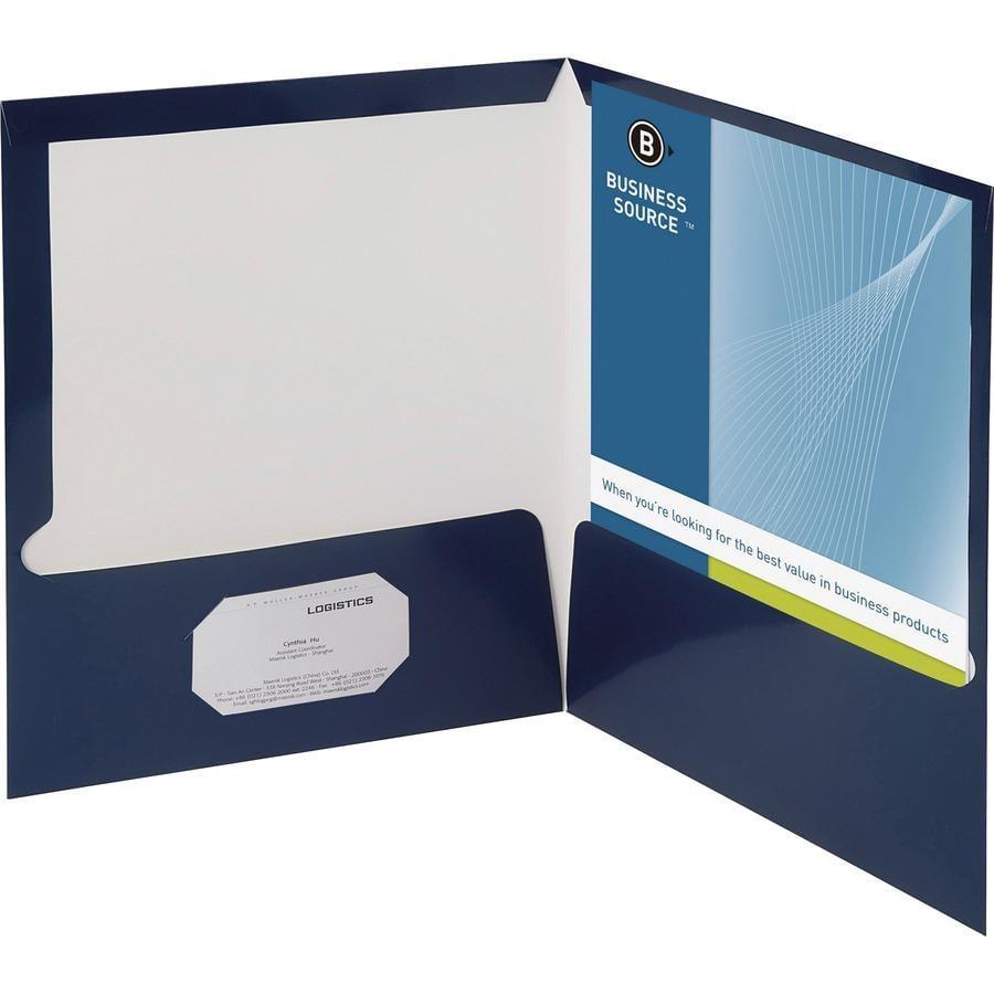 Discount Business Source Two Pocket Folder