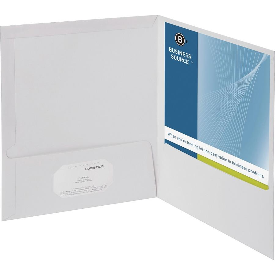 Wholesale Bargains Business Source Two Pocket Folder