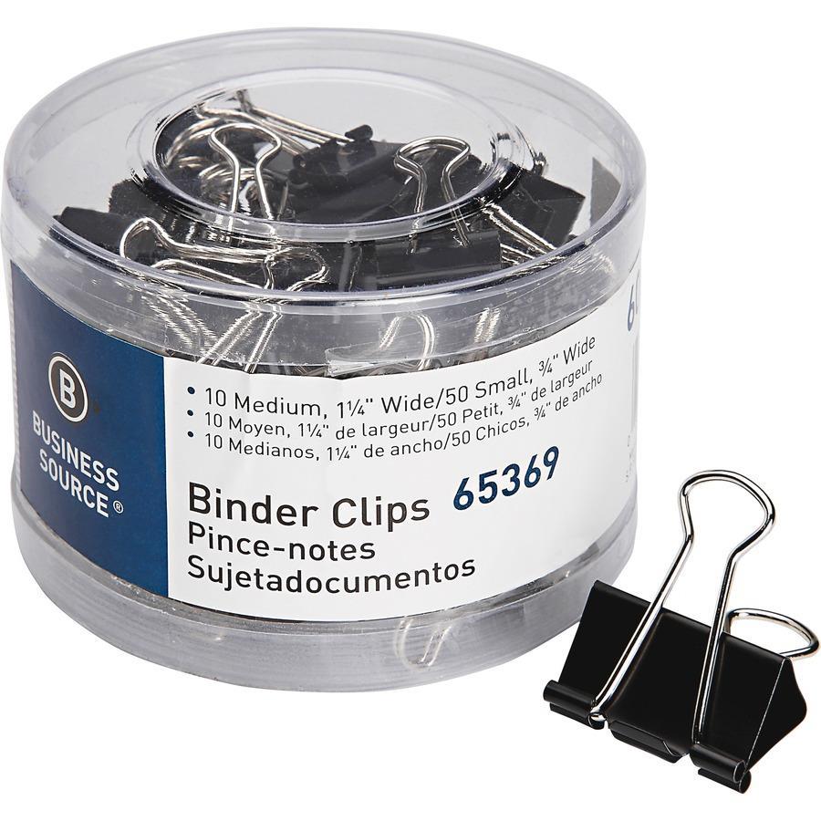 Business Source Small/Medium Binder Clips Set