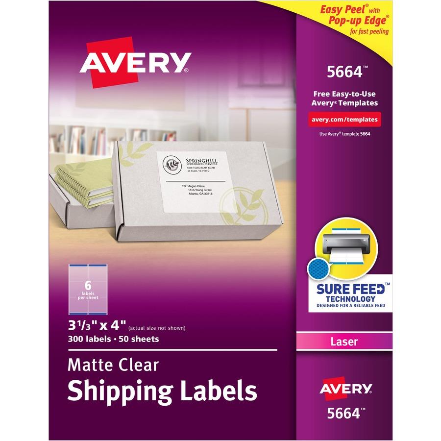 Avery matte clear easy peel shipping labels zerbee for Avery 8 up labels