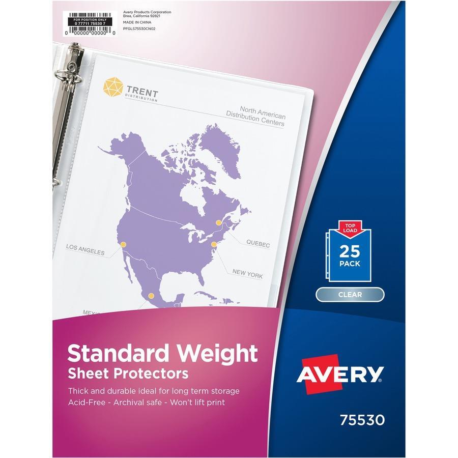 Avery Standard Weight Sheet Protectors Zerbee