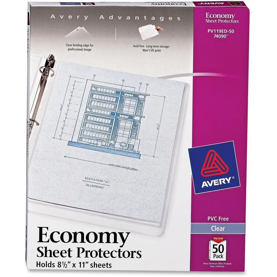 Avery economy weight sheet protectors avery economy weight sheet protectors ave74090 malvernweather Images