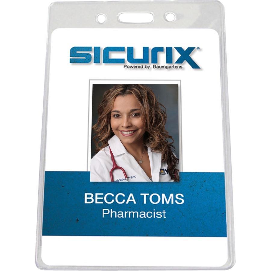 sicurix vertical id badge holder