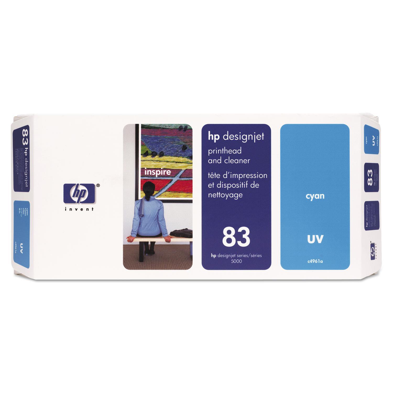 HP 83, (C4961A) UV Cyan Printhead and Cleaner
