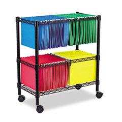 Alefw601426bl Alera 174 Two Tier Rolling File Cart Zuma