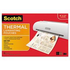 Mmmtp385625 Scotch Menu Size Thermal Laminating Pouches Zuma