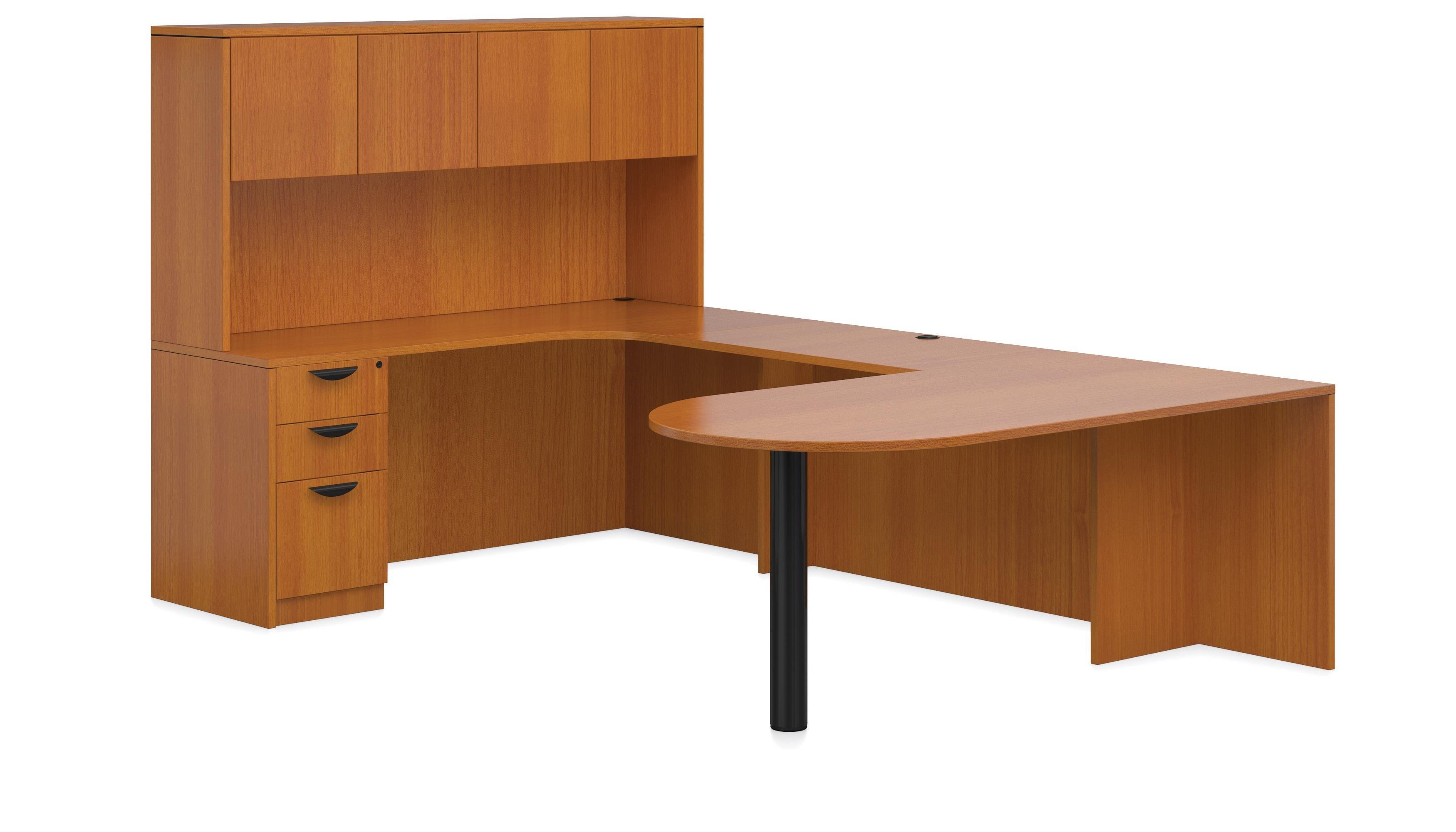 Offices To Go U Shaped Executive Desk W D Island Shaped Penisula