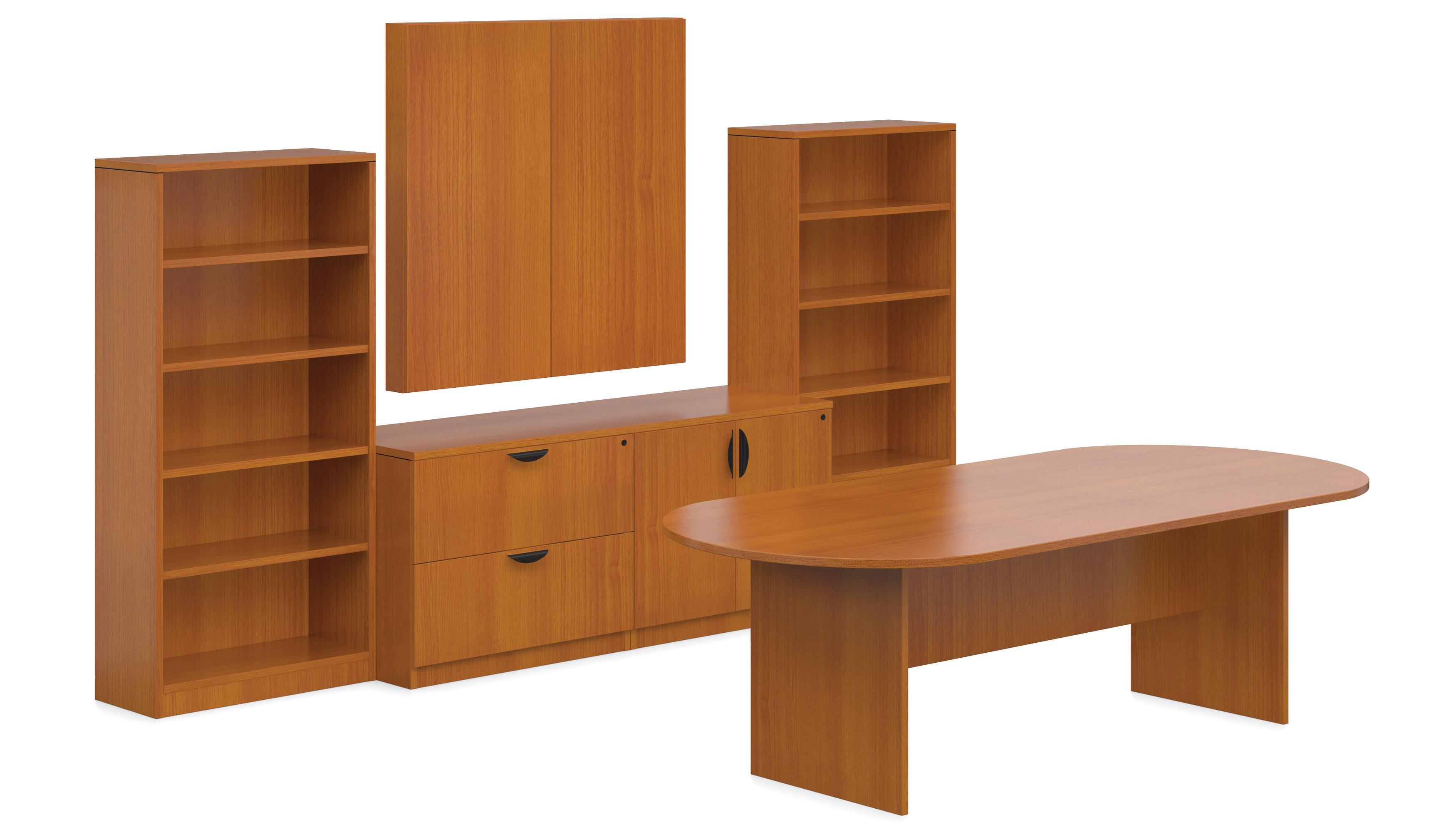 Offices To Go Foot Conference Table With Bookcases An Enclosed - Conference table with storage
