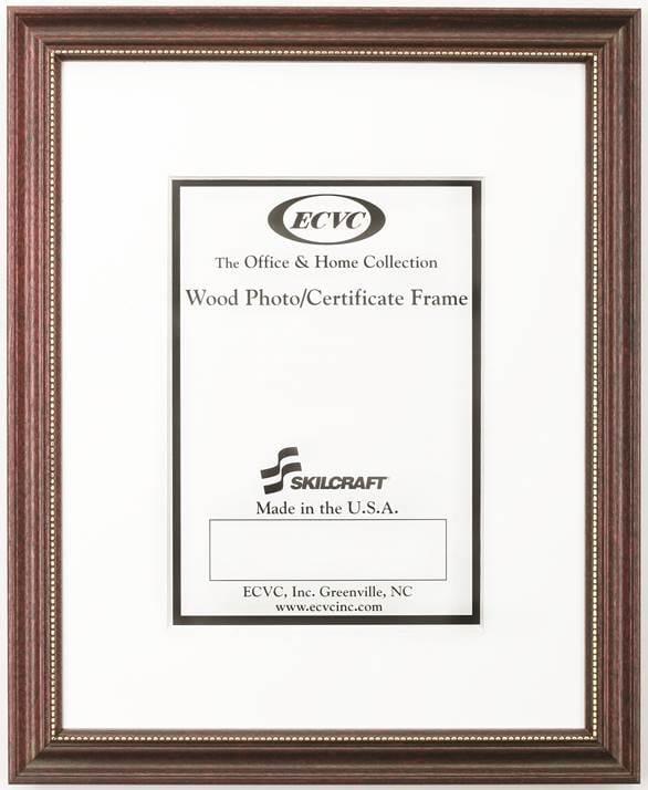 7105014246482 Frame Mahogany With Gold Bead Wood 5x7 Kandu