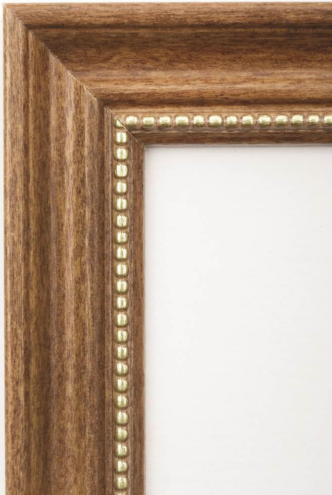 7105014246483 frame oak with gold bead wood 5x7 kandu